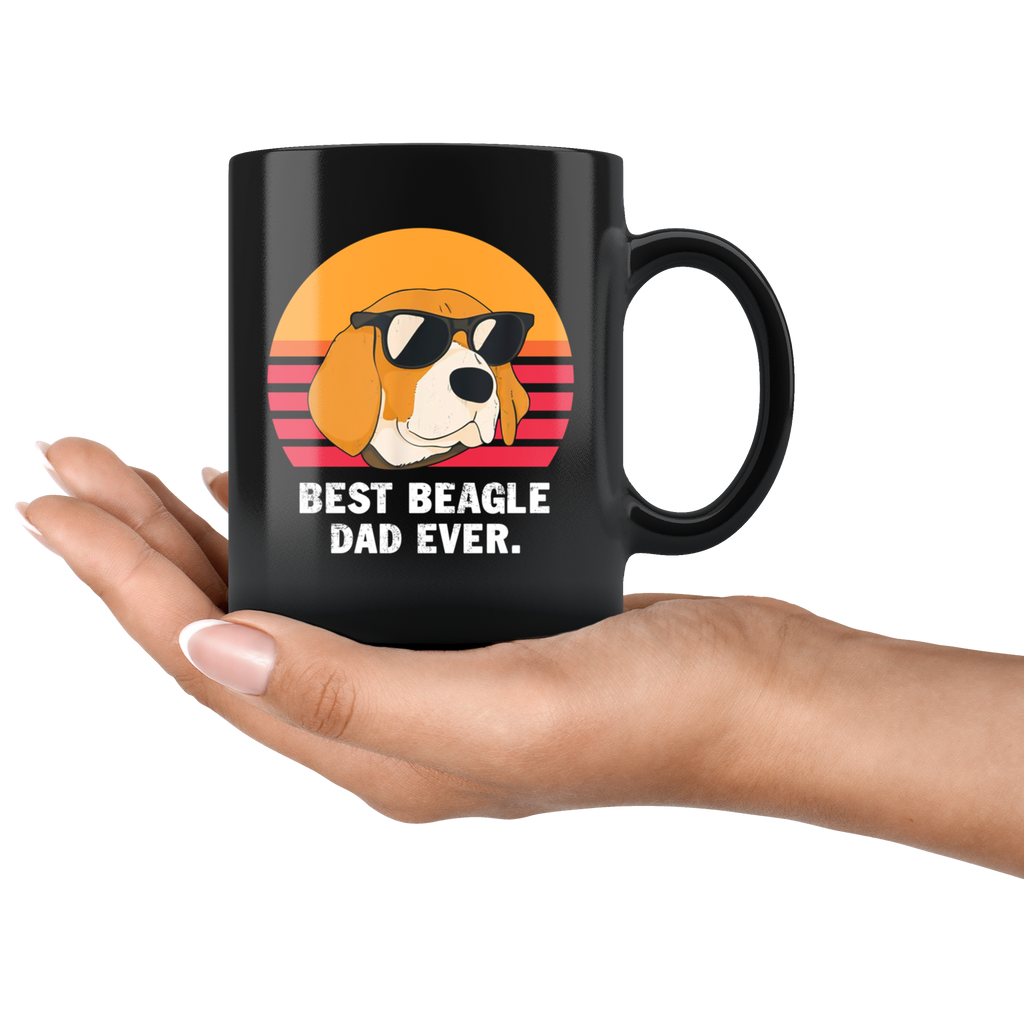 Best Beagle Dad Ever mugs