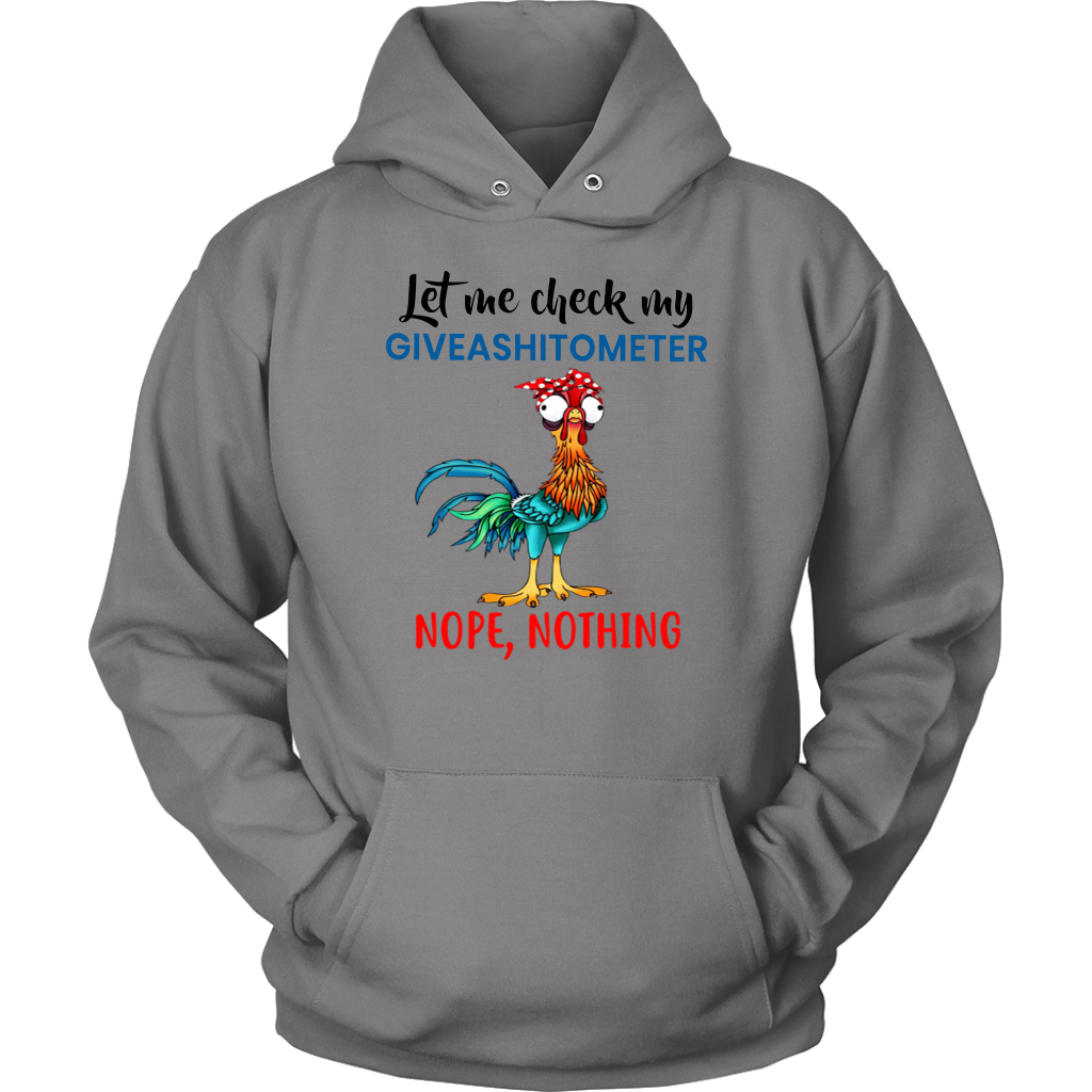 Chicken Let Me Check My Giveashitometer Nope Nothing shirt funny