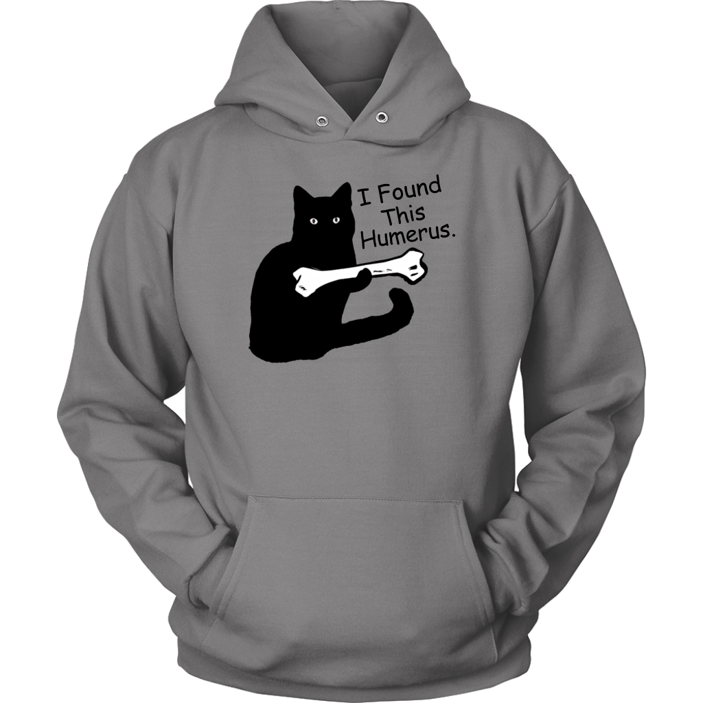 I Found This Humerus T Shirt Funny Black Cat Humourous Pun