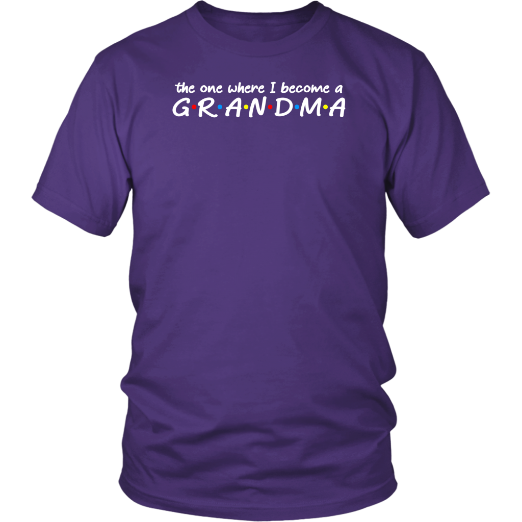 The one where I become a grandma friends style shirts