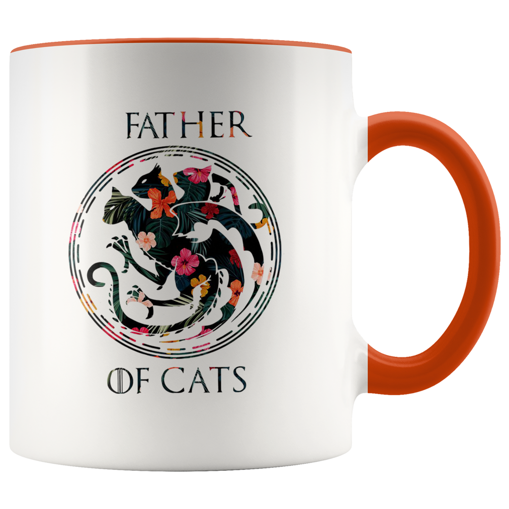 Floral Father Of Cats mug coffee