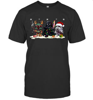 Boba Fett Darth Vader and Stormtrooper Christmas shirts