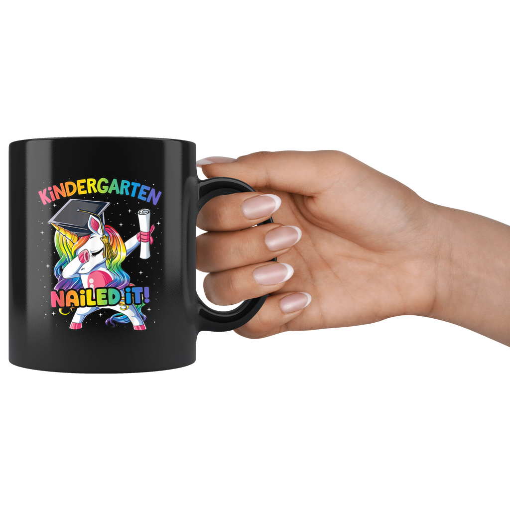 Dabbing Unicorn Kindergarten Nailed It Mug