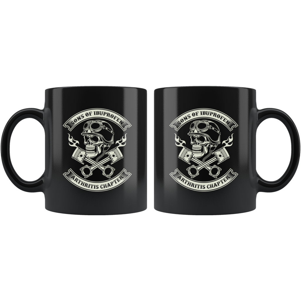 Sons of Ibuprofen Arthritis Chapter helmet head mug coffee funny bikers