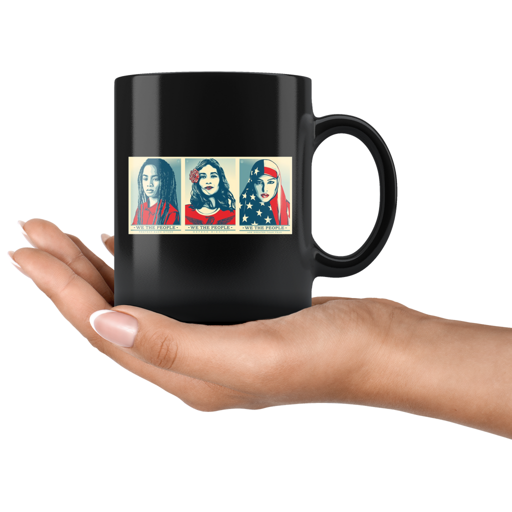 We The People Defend Dignity Mug Cup Coffee Feminist