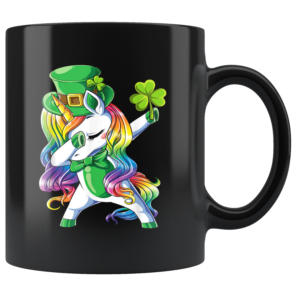 Dabbing Unicorn Lepricorn St Patricks Day Mug Cup Coffee