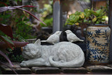 Outdoor Kitten Bird Ornaments Resin Cat Sculpture Decor