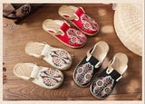 Boho Women Summer Slippers Shoes Retro