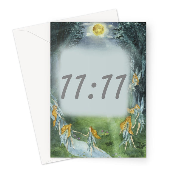 11:11 Angel Numbers Greeting Card