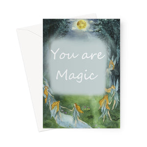 You are Magic Greeting card.