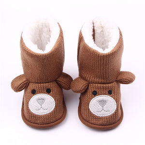 Baby Winter Boots Cute Cartoon Bear Shoes Girls Boys