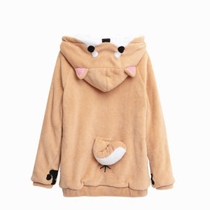 Ear And Tail Sweatshirt Plush Women Hoodie