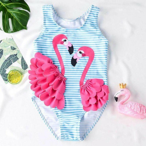 Flamingo Girl Swimwear Bathing Suit