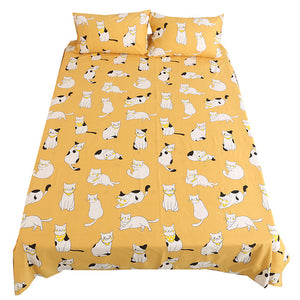 Cat Bedding Sheet Cotton Flat Sheets