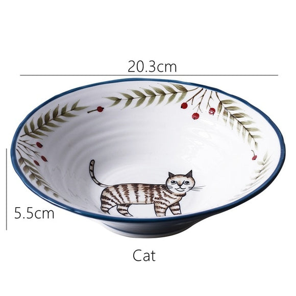 Ceramic Bowl Noodle Bowl Animal Design