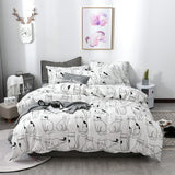 Cat Bedding Set Cotton Comforter
