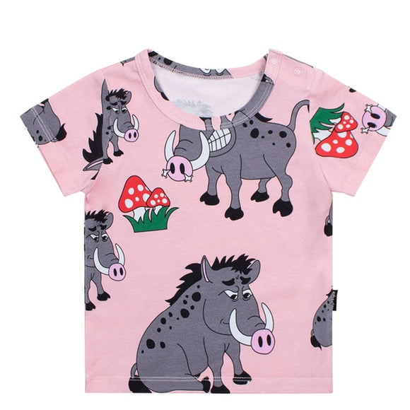 kids t-shirt cartoon print Boys Girls