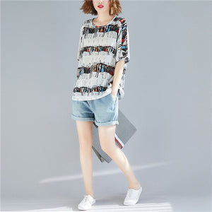 Chiffon T-shirt Graphic Tee