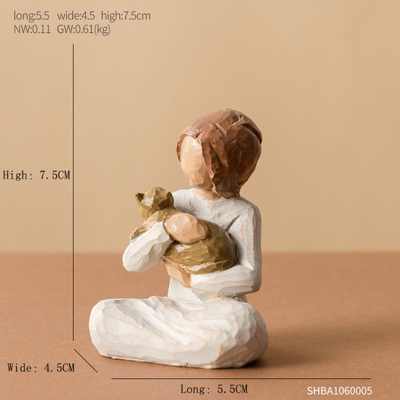 Love Family Resin Figurines Ornaments