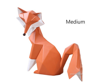 Fox Figurines animal crafts Gifts Home Decor