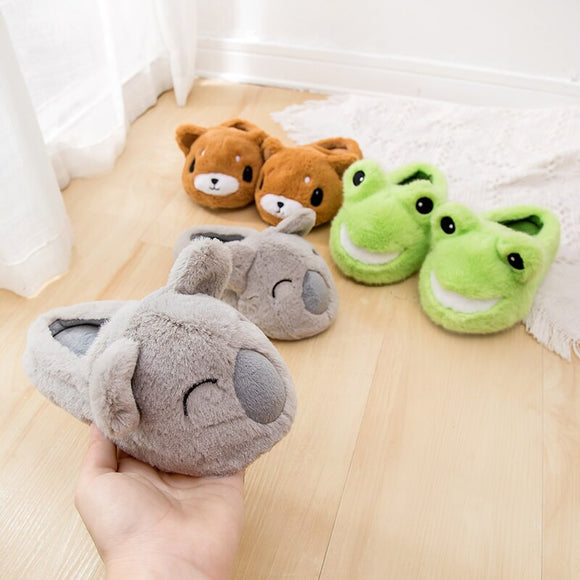 Kids warm house slippers frog, rabbit, Kuala,