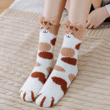 Fluffy Cat Claws Plush Fleece Socks