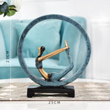 Yoga Pose Statue Sculpture