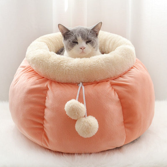 Pumpkin Shaped Cat Nesting Bed