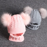 Winter Warm Baby Pom Pom Beanie