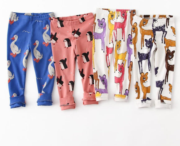 Kids Girl Leggings Animal Pattern
