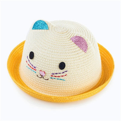 Baby Hat Cap Summer Cat ears Beach Hat girl boy sun