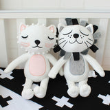 Baby Pillow Kids Stuffed Toys Girls Boys Lion Cat Dolls Children Room Decoration Baby Bedding