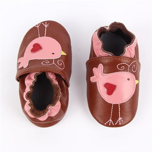 Cat Soft Leather Infant Shoes Slippers 0-6 6-12 12-18M Toddler