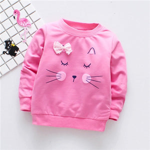 Girls Cat Sweater