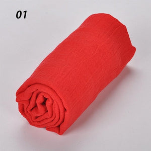 Spring Summer Soft Cotton Scarves Shawls