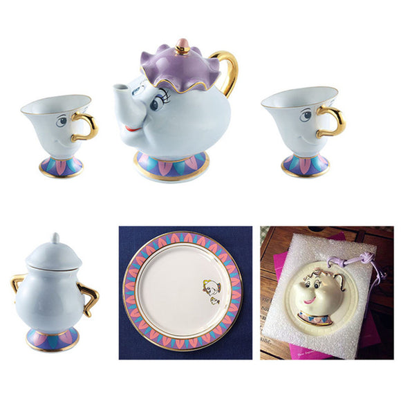 Beauty and The Beast Tea Set Teapot+Chip Cup Gift