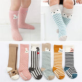 Animal Pattern Knee High Sock Baby Socks Cotton
