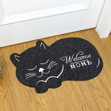 Cat shape Door Mat 38*58cm Anti-slip