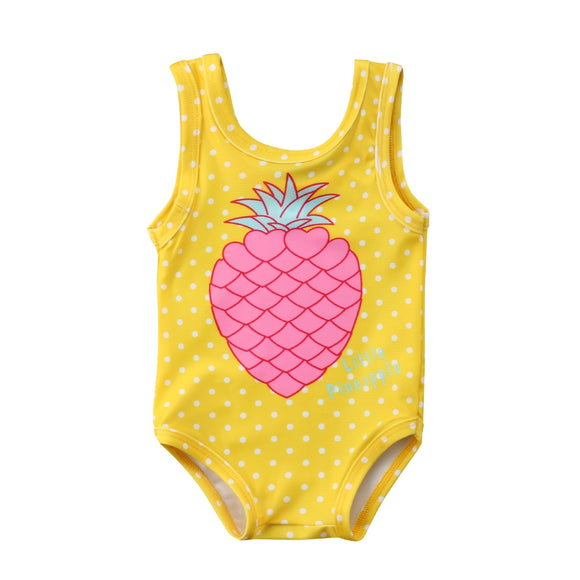 Baby Swimsuit Yellow Dot Swimwear