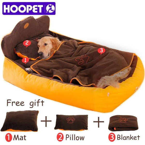 Petgear.co.nz Completely Removable & Washable 3PCS Pet Bed with Double Sided Cushion