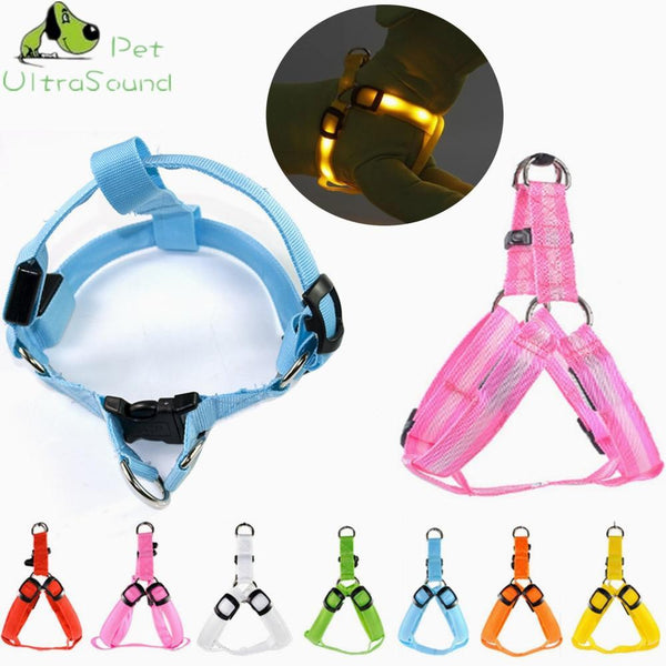 Petgear.co.nz Nylon Safety LED Harness Dog Flashing Light Harness