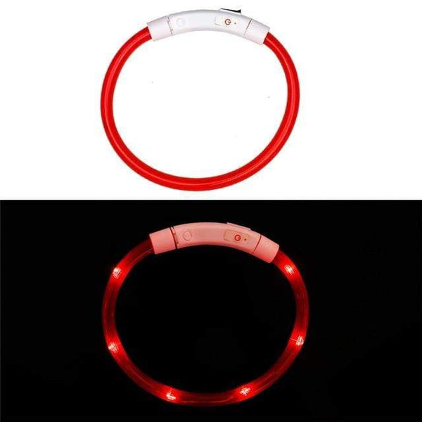 Petgear.co.nz Rechargeable Flashing Night Dog Collars USB luminous Adjustable