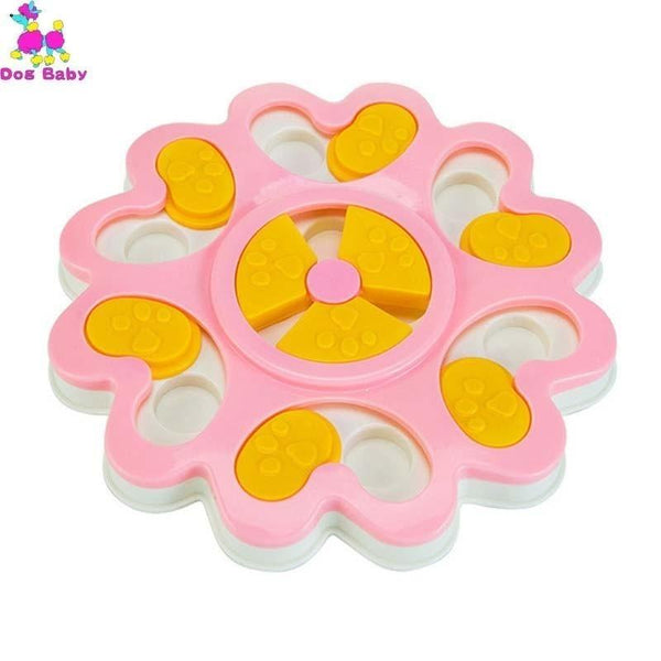 Petgear.co.nz Toys Dog Puzzle Toy Increase IQ Interactive Flower Slow Dispensing Feeding