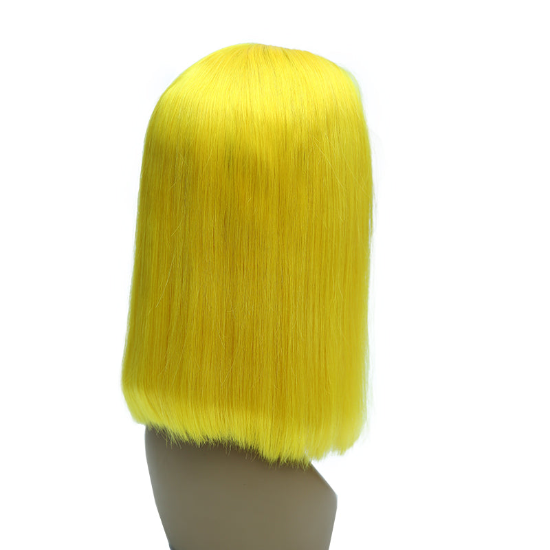 Msbeauty Mermaid Yellow Lace Front Bob Wig Brazilian Lace Front 2019 Summer Wig Trendy Color - MSBEAUTY HAIR