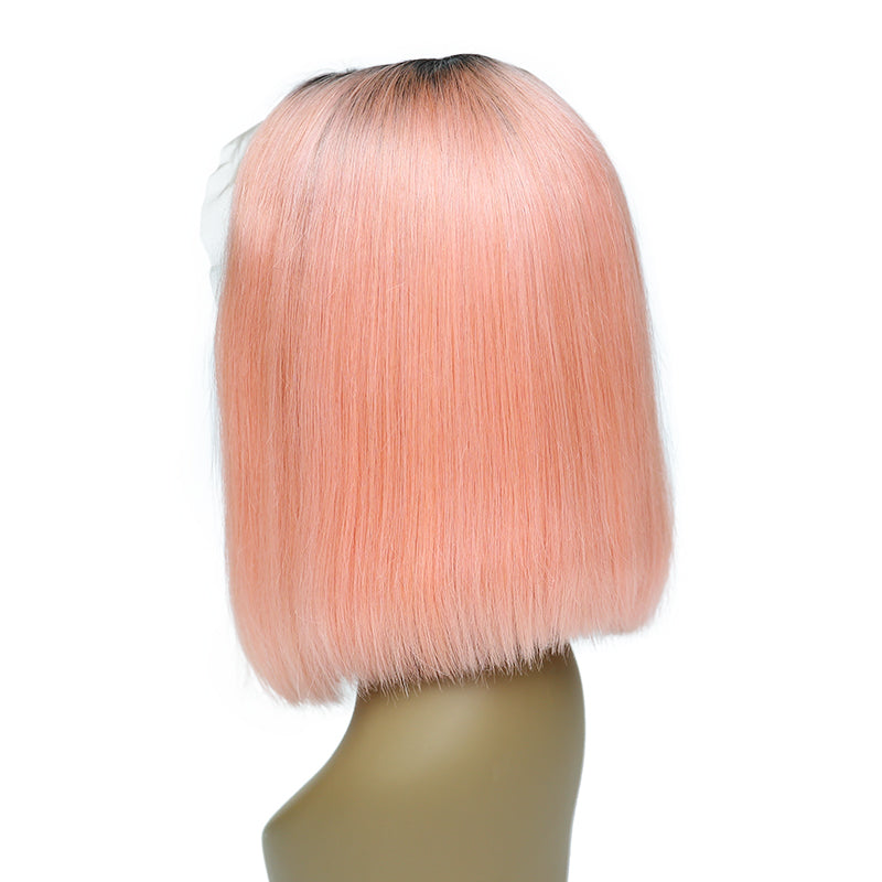 Msbeauty T1B/PINK Lace Front Straight Bob 2019 Summer New Hair Style Bob Cut Wig - MSBEAUTY HAIR