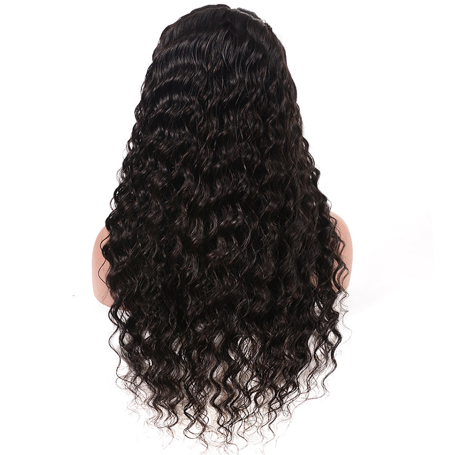 Msbeauty 360 Lace Front 180% Density 2019 New Deep Wave Human Hair Wig - MSBEAUTY HAIR