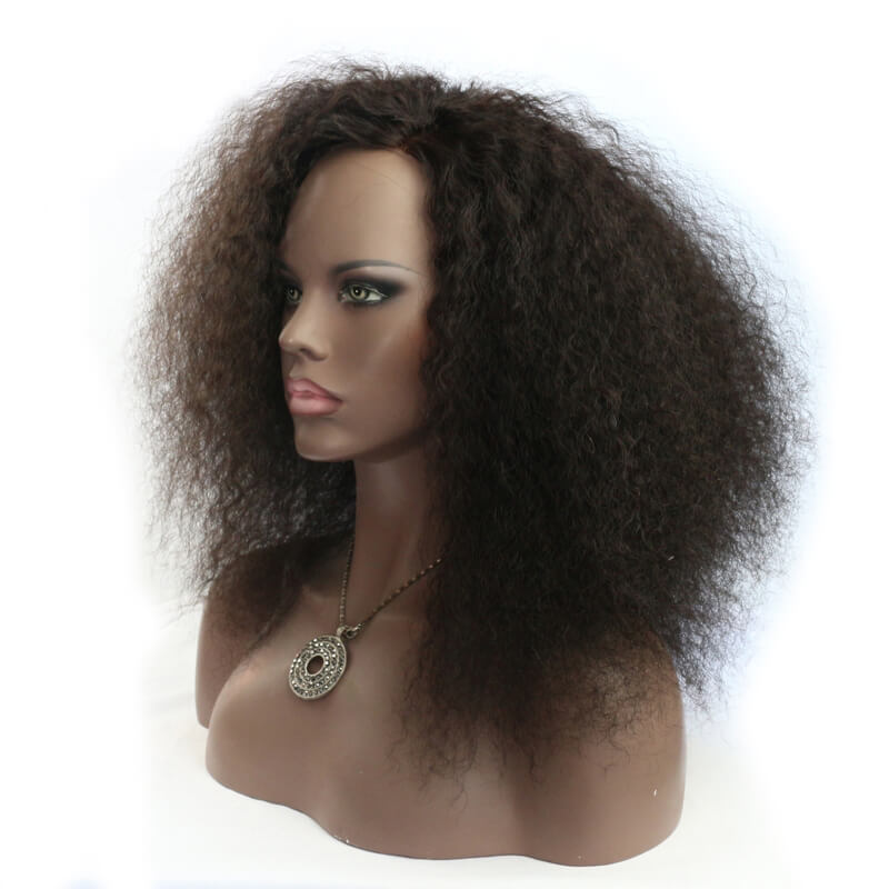 Msbeauty 2019 Trendy Malaysian Curl Lace Front Human Hair Wig - MSBEAUTY HAIR