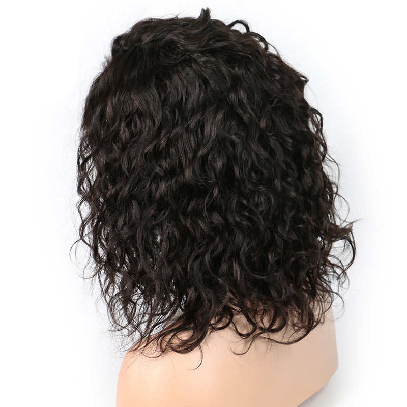 Msbeauty Free Part Lace Front Short Deep Curly 180% Density Pre Plucked Natural Hair Line - MSBEAUTY HAIR