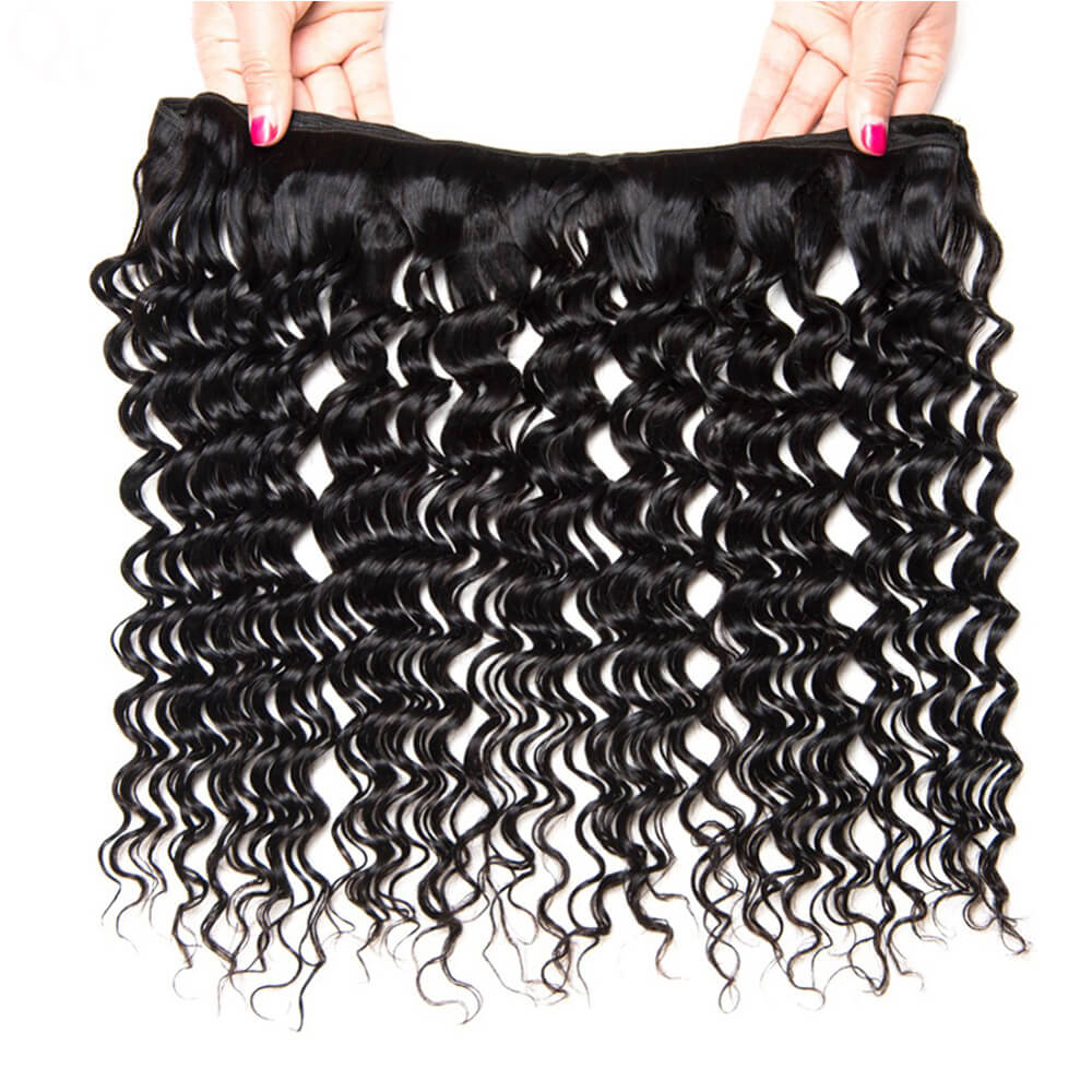 Msbeauty Remy Deep Wave 3 Bundles Malaysian Human Hair Weave - MSBEAUTY HAIR