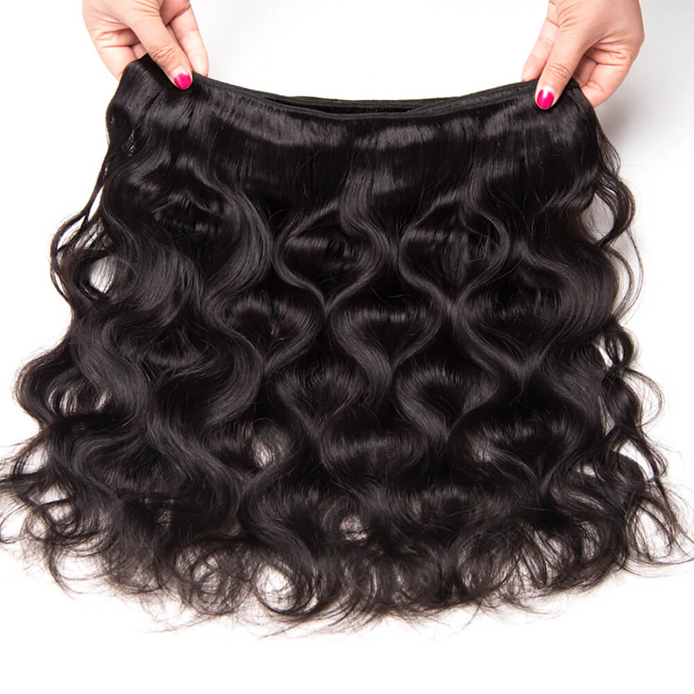 "Msbeuty Peruvian Long Wavy 8""-30"" Body Wave Human Hair 3 Bundles Virgin Hair - MSBEAUTY HAIR"